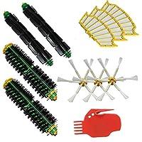 LOVE(TM)2毛ブラシ&2柔軟ビーターブラシ&3サイドブラシ6-武装&3フィルター&クリーニングツールパックFor robotのルンバ500シリーズルンバ510、530、535、540、560、570、580、610真空掃除ロボットのメガキット