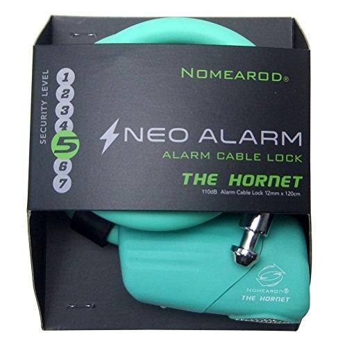 アラーム110dB ケーブルロック NOMEAROD THE HORNET Alarm Lock 【日本正規品】 (Celeste チェレステ)