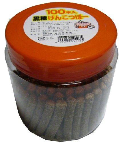 高田屋製菓 黒糖げんこつぼー 100本入