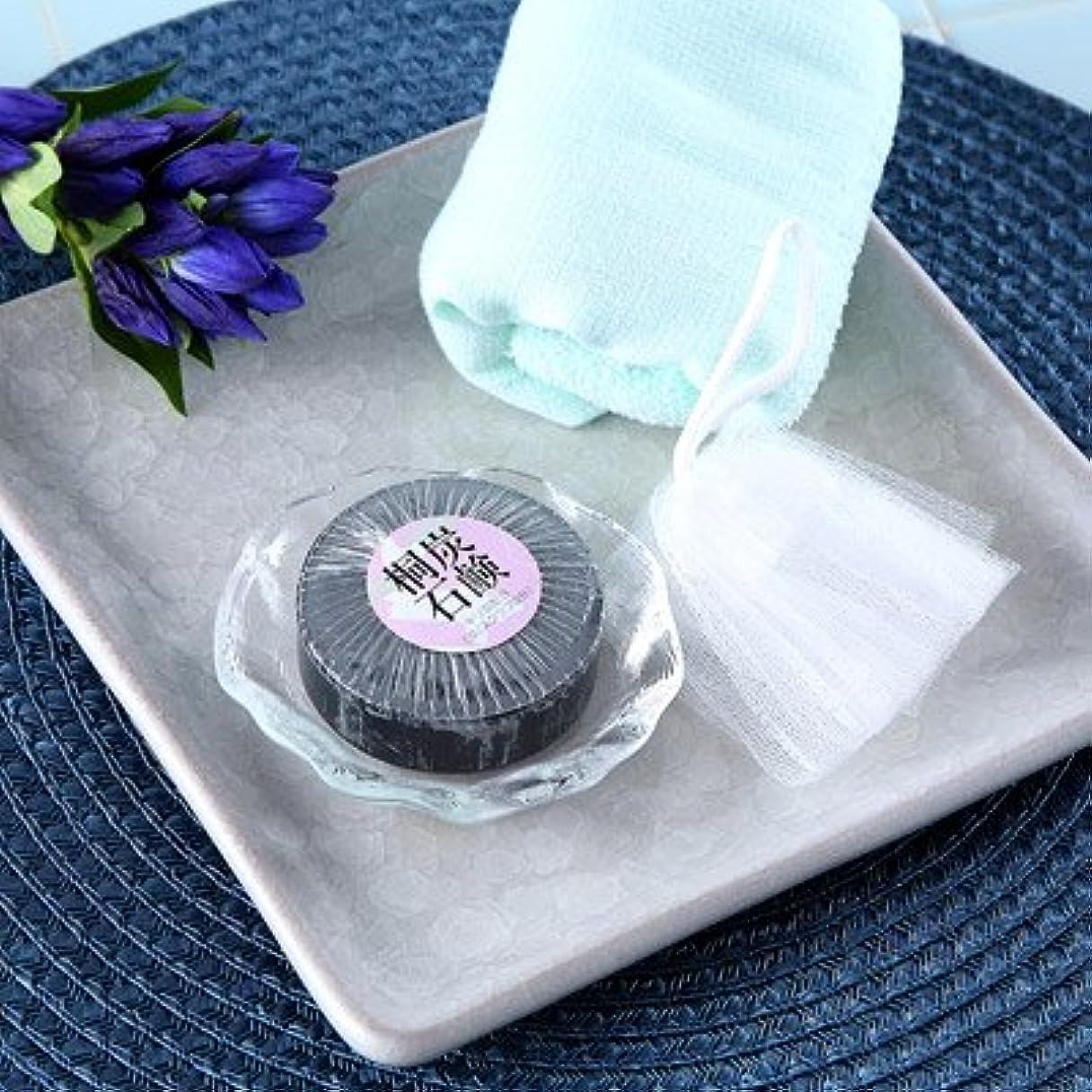 ヶ月目改善贅沢明治33年創業の桐製品の老舗が贈る お肌にやさしい桐炭石鹸
