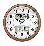 カシオ アナデジ電波掛時計 温・湿度計 夜見えライト 野鳥のさえずりアラーム 電子ひめくり 秒針停止機能付 ITM-900FLJ-5JF