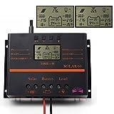 Sun YOBA 液晶ディスプレイソーラーパネル充電コントローラPWM充電モード 60A 12V/24Vオートスイッチ