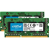 Crucial 8GB Kit (4GBx2) DDR3/DDR3L 1600 MT/s (PC3L-12800) Unbuffered SODIMM 204-Pin Memory - CT2KIT51264BF160BJ