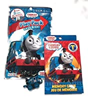 Thomas and Friends Memory Card Game, Play Pack and Mini Toy Train Bundle