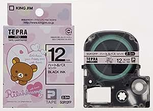 キングジム テープカートリッジ テプラPRO リラックマ 12mm SGR12FP ハート&バス