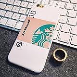 (キュートゴーゴー)Cutegogo iPhone6/6s iPhone6 plus iPhone6s plus ケース  スターバックス STARBUCKS スタバ コーヒー フラペチーノ カバー 保護ケース カバー 保護カバー プレゼント 大人気 メンズ レディース ファッション(iPhone6/6s ホワイト)