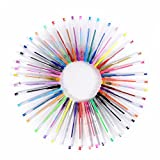 LIHAO 水性ジェルボールペン カラーペン 蛍光ペン ミルク キラキラ マーブルカラー ジェルインク 48色セット