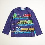 きかんしゃトーマス 長袖Tシャツ 100cm-120cm(743TM4011) (100cm, ネイビー)