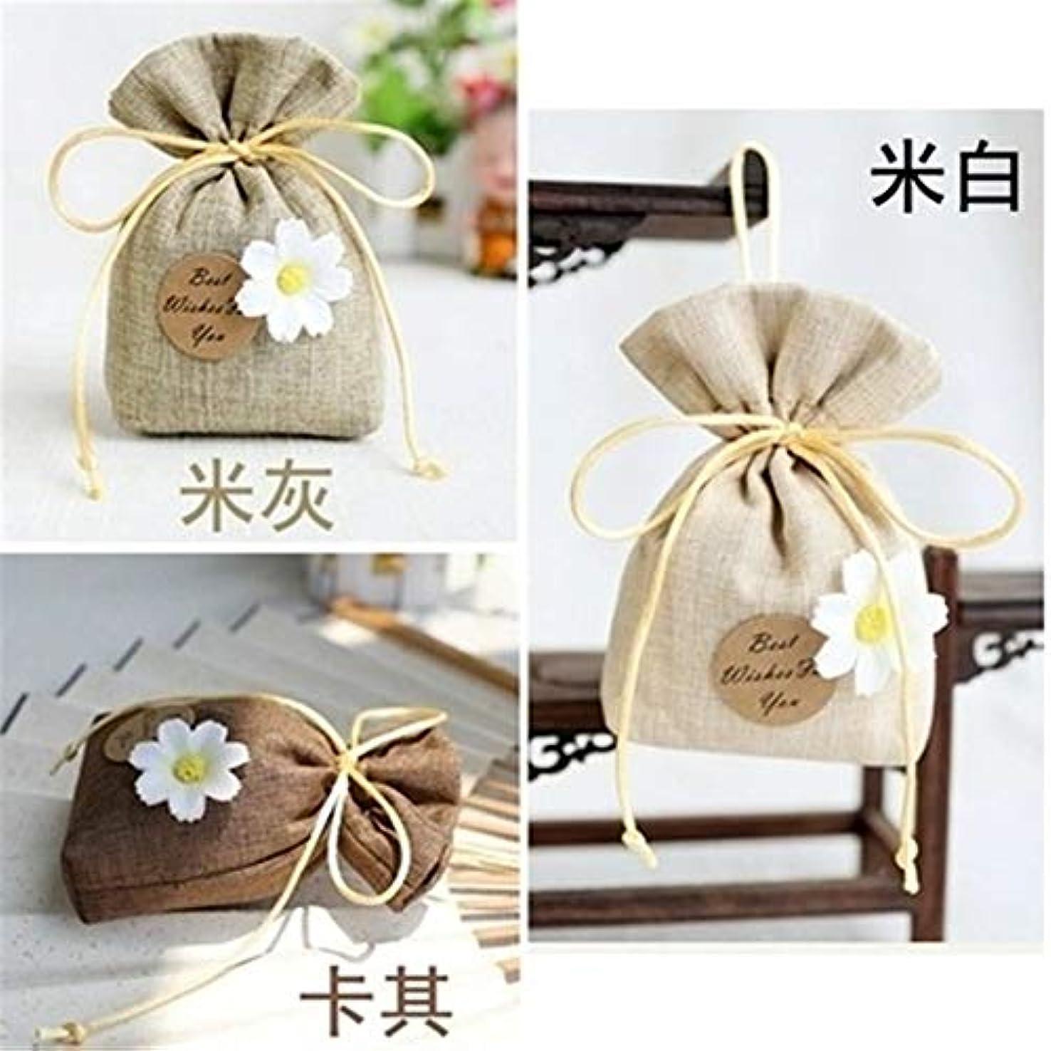 ベーシック磁石退屈なGardenia/Clove/Gulongの芳香の芳香の芳香剤の香料入りの磨き粉、ワードローブのための自然な芳香の芳香の芳香袋、車、 (Color : Khaki, Scent Type : Gardenia)