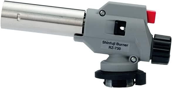 新富士バーナー パワートーチ ガスバーナー日本製 火力調節 炙り調理 溶接 火口径:22mm 小型 グレー RZ-730S