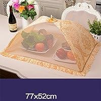 CHENGYI ゴールデンフードカバー表カバーディッシュカバー折り畳み式ダイニングテーブルカバーアンチフライカバーフード傘大 (Size : B)