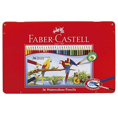 ファーバーカステル 水彩色鉛筆 平缶 36色セット