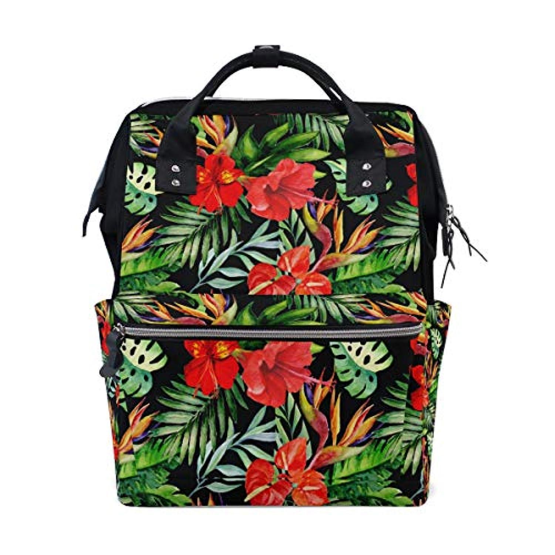 ママバッグ マザーズバッグ リュックサック ハンドバッグ 旅行用 木ノ葉と红花 ファション