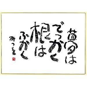 相田みつを 色紙 F4サイズ 夢はでっかく 900A315