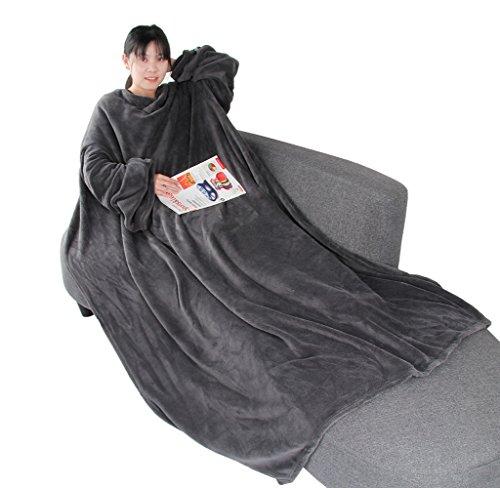 Winthome 袖付き毛布 着る毛布 ブランケット 着るブ...