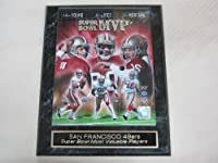 San Francisco 49ers Super Bowl MVP EngravedコレクターPlaque w / 8 x 10フォトモンタナRice Young