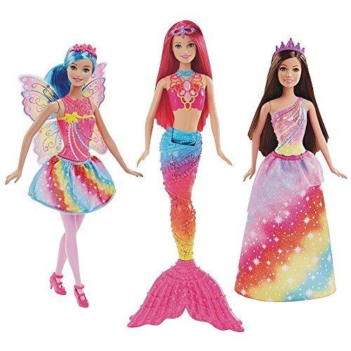 バービー人形Barbie Dreamtopia Rainbow Cove Set of 3 Dolls [並行輸入品]