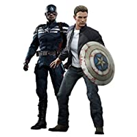 Movie Masterpiece Captain America / Winter Soldier Captain America (stealth suit version) and Steve Rogers (Set of 2)