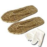 iikuru 高品質 草鞋 わらじ 足袋 靴下 セット 24 25 26 27 28 cm / 草履 ぞうり たび セット
