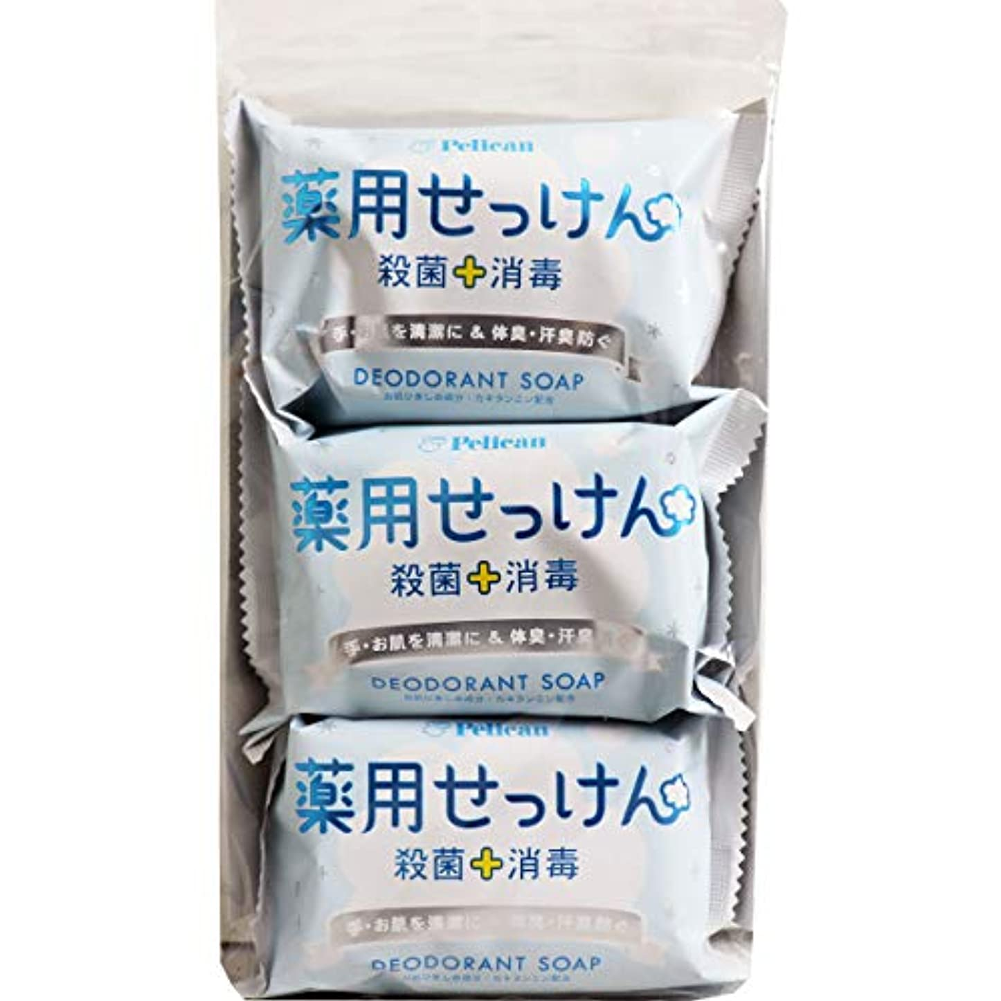 あらゆる種類のどうやって装置ペリカン石鹸 薬用石けん 85g×3個×4パック