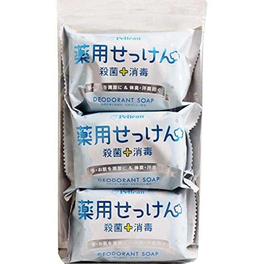 呪い摘む強要ペリカン石鹸 薬用石けん 85g×3個×4パック