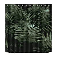 Tropical Palm Banana Leaves Waterproof Bathing Shower Curtains Liner Anti-Bacterial and Mildew Resistant Polyester Bath Bathroom Washroom Restroom Toilet Curtain Decor with Hooks 01 (180x180, 01)