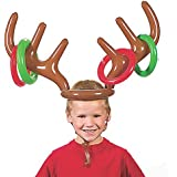 Bluelans FunnyインフレータブルReindeer Antler Hat Ring Tossクリスマスパーティーゲームおもちゃギフト One Size VO41237H714L1O8