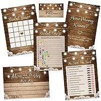 素朴なブライダルシャワーゲーム 各50枚セット ブライダルシャワーゲーム 結婚記念アクティビティ 結婚式のアドバイスカードと絵文字ゲーム 5 x 7インチ