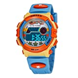 Aubigカラフル腕時計アウトドアスポーツ男の子女の子LEDデジタルアラームストップウォッチ防水学生腕時計ドレスギフト腕時計