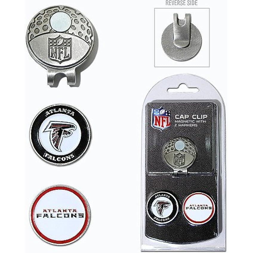 ヒューズ特異なが欲しいAtlanta Falcons NFL帽子クリップW / 2つ両面ボールマーカー