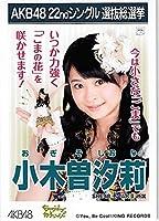AKB48 公式生写真 22ndシングル選抜総選挙 Everydayカチューシャ SKE48 チームKⅡ【小木曽汐莉】