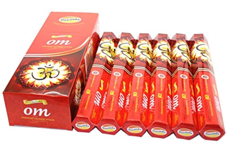 大洪水人類一貫したGovinda ® Incense – Om – 120 Incense Sticks、プレミアムIncense、Masalaコーティング