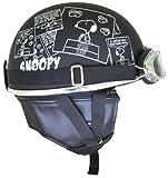 アークス(AXS) ヘルメット SNOOPY ビンテージヘルメット コミック/マットブラック フリー SNV-01