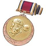 ドラえもん メダル 銅 サッカー 直径70mm 日本製 DRZ-2005C