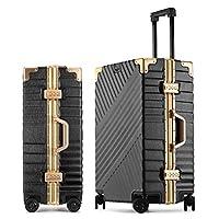 アルミフレームトロリーケース、スーツケースユニバーサルホイール、荷物、学生パスワードケース、レザーケース、