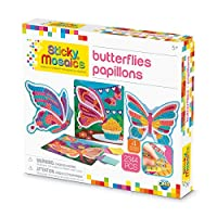 The Orb Factory Sticky Mosaics Butterflies Arts and Crafts (2344 Piece), Yellow/Blue/Pink/Purple/Pink, 30cm x 5.1cm x 27cm