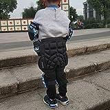 kufun ヒッププロテクター 子供用 お尻保護 幼児 ヒップガード スケボー ヒップパッド こども 2-12歳 スノーボード スキー スケートボード 耐衝撃 外に着 キッズ用 初心者 インラインスケート ローラースケート (方形(12-25kg))