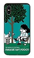 iPhoneXS iPhoneケース (ハードケース) [カード収納/耐衝撃/薄型] soccer junky (サッカージャンキー) LEFTY GOD CollaBorn (グリーン) (iPhoneX対応)