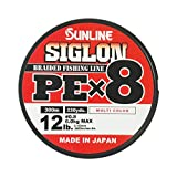 サンライン(SUNLINE) ライン シグロンPE×8 マルチカラー 300m #0.8/12lb