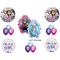 Frozen Birthday Girlディズニームービー誕生日パーティーバルーンDecorations Supplies by Anagram