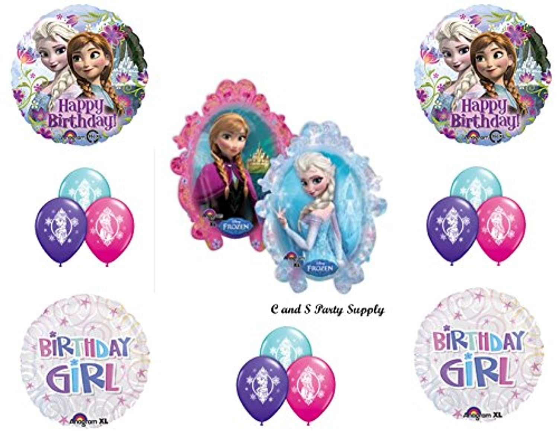 Frozen Birthday Girlディズニームービー誕生日パーティーバルーンDecorations Supplies by Anagram