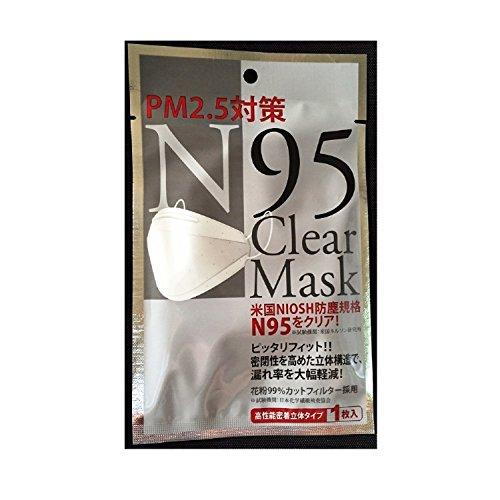 高機能 PM2.5対策 N95 クリアマスク (10)