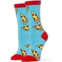 Womens Crew Funny Novelty Socks Pizza Party