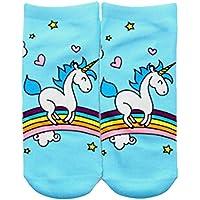 HENGSONG Cute Unicorn Pattern Socks Funny Emoji Sports Socks for Girls Boys Teenagers