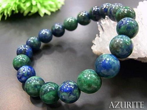 [해외]천연석 브레스 아즈 라이트 팔찌 10MM 구슬/Natural stone Breath Azuraito bracelet 10MM ball