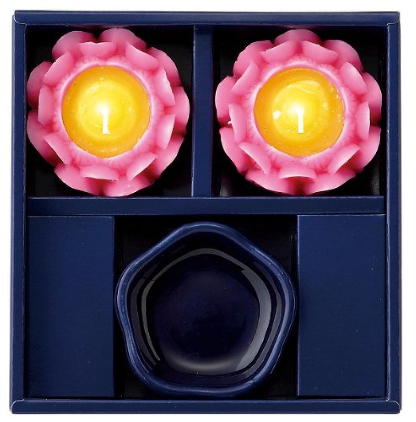 適度なガラス気質マルエス 蓮の花進物セット ピンク