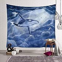 タペストリー クジラのタペストリー海洋動物のタペストリーの壁掛けポリエステル寝室のリビングルームの装飾 SHWSM (色 : F f, サイズ さいず : 203x150)