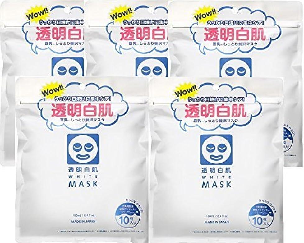 公演うま鏡透明白肌 ホワイトマスクN×5個セット