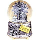 (よんピース) 4 piece オルゴール メロディ ボックス おしゃれ スノードーム プレゼント 贈り物 ゴールド KH0137 (シルバー)