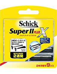 シック Schick スーパーIIプラスX 2枚刃 替刃 (9コ入) ×12個